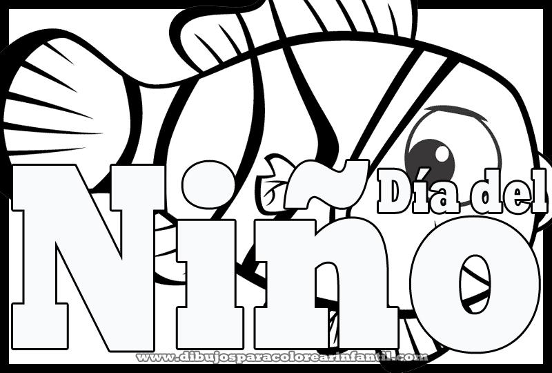 Dibujo de Nemo para el dia del niño colorear ~ Dibujos para ...
