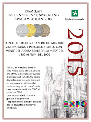 International Sparkling Awards Milan 24 Ottobre Monza