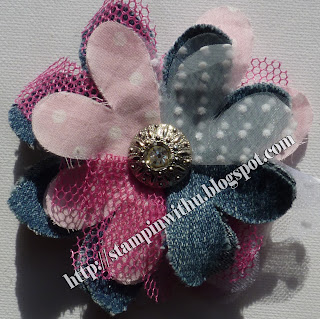 Big Shot Flower Brooch or Hair accessory