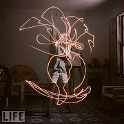 Mili and Picasso began creating their light drawings in 1949.