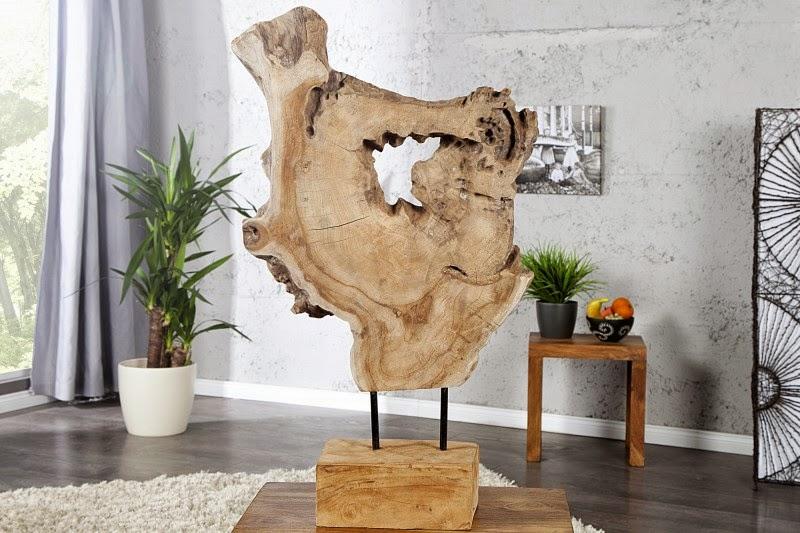 dekorácia z masivneho dreva