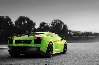 Green Lamborghini Awesome Car HD Wallpaper