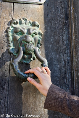 Old door knocker in Baux-de-Provence