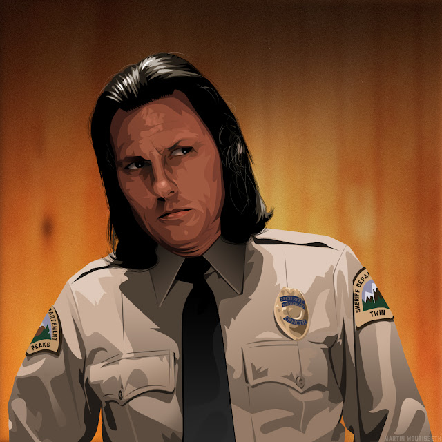 Twin peak illustrated - Deputy Hawk