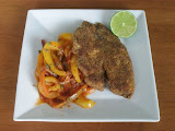 Chili-Lime Fish Fry with Tex-Mex Peperonata