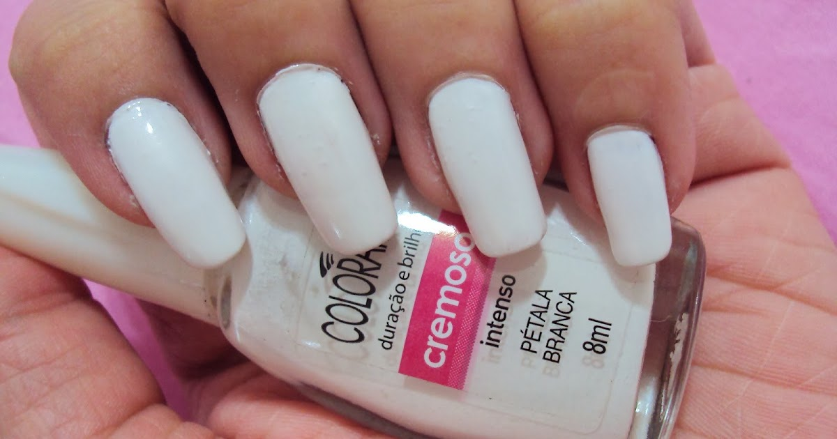 Esmalte branco t na moda unhas com esmalte branco for Decor unhas