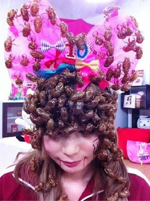 Aneh & Menjijikan ! Seluruh Kepala Wanita Ini Ditutupi Kecoa [ www.BlogApaAja.com ]
