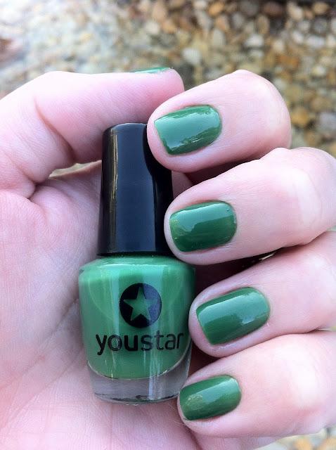 esmalte, unha, verde, Youstar