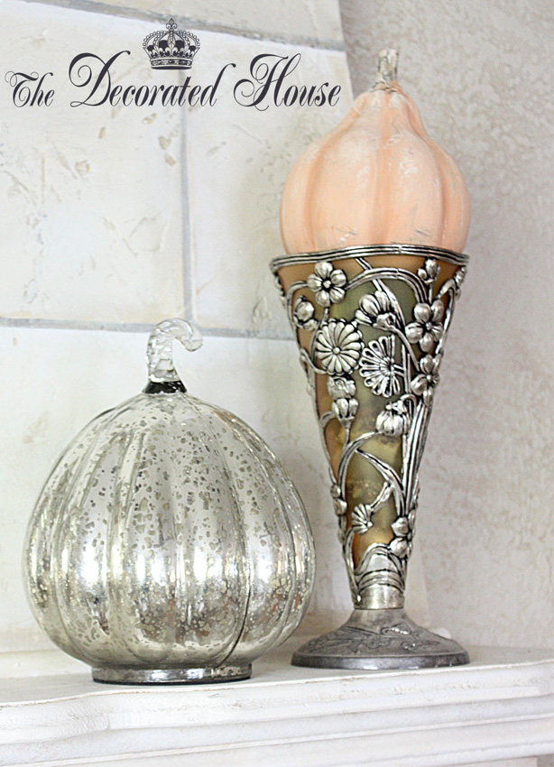 the decorated house fall mantel decorating at the