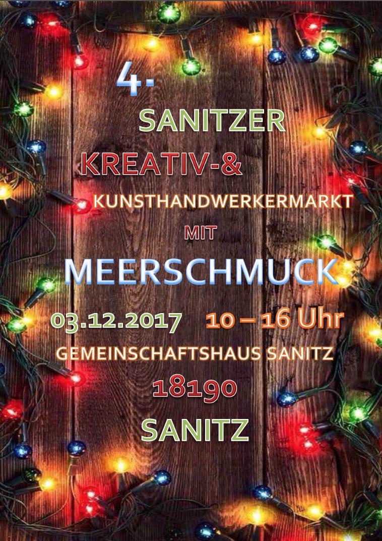 Kunsthandwerkermarkt • Gemeindehaus Sanitz • 03.12. • 10 - 16