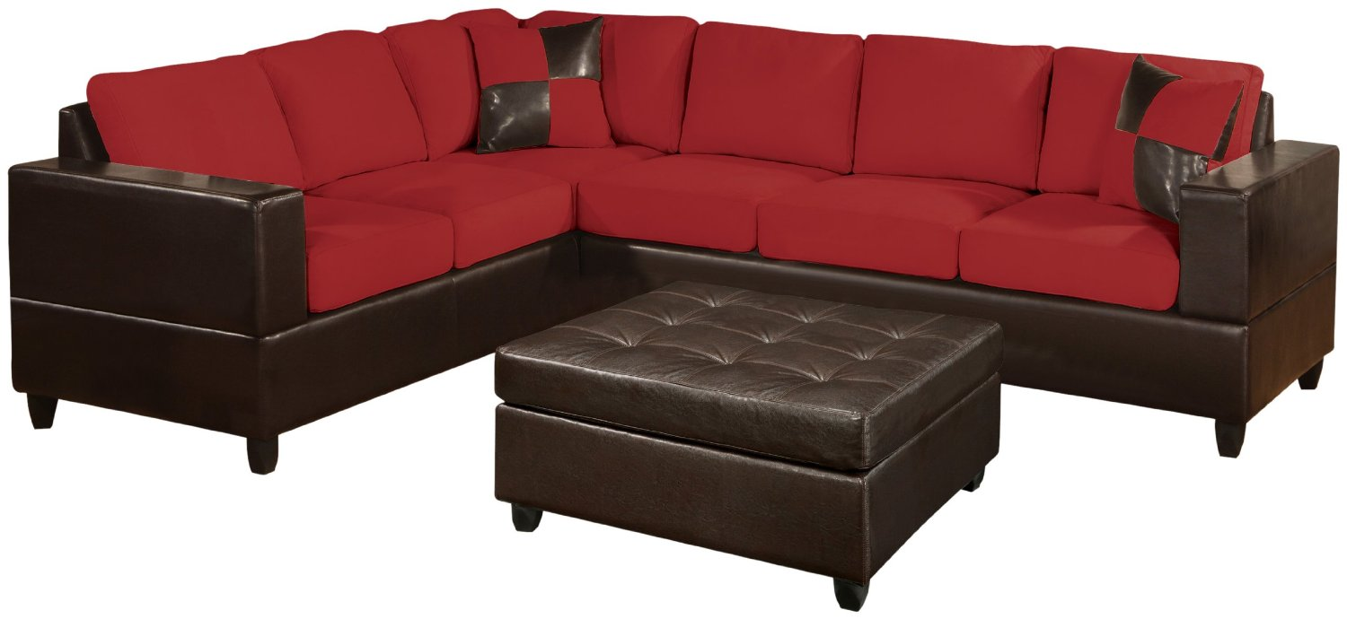 Microfiber and leather sectional sleeper sofa with chaise Sleeper sofa sectional