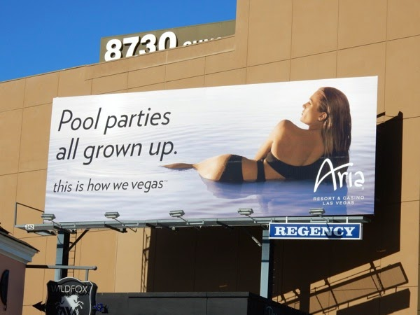 Aria Vegas Pool parties all grown up billboard