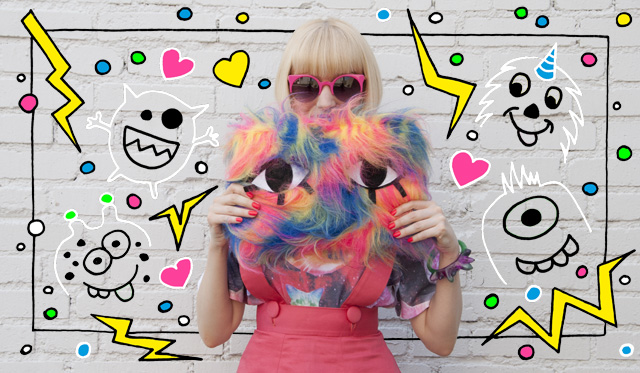 joanna pybus, fur clutch, eye clutch, pop