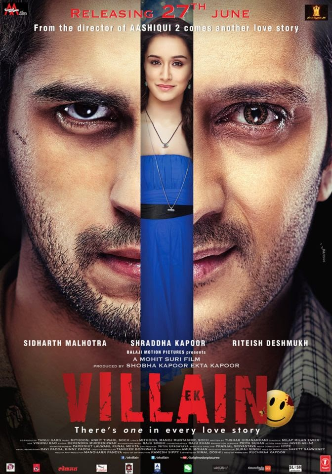 Ek Villain (2014) Movie First Look Poster