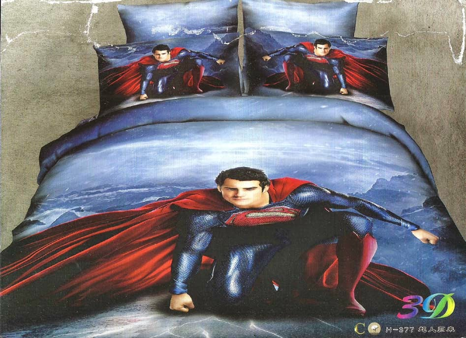 Sprei Panel Anak Motif Superman