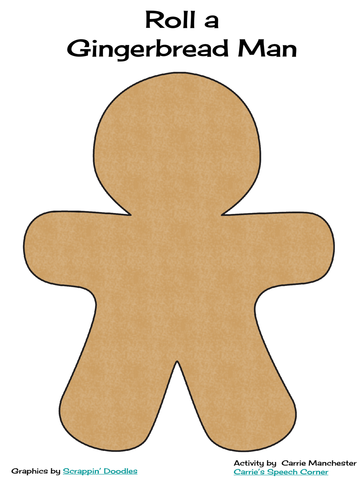 The pieces...there are enough on one page to make two gingerbread men ...