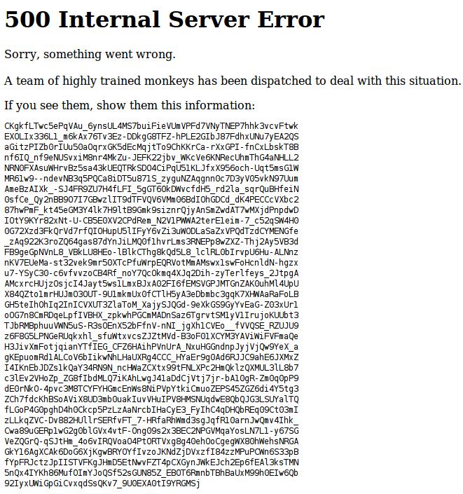 7 monkeys youtube error