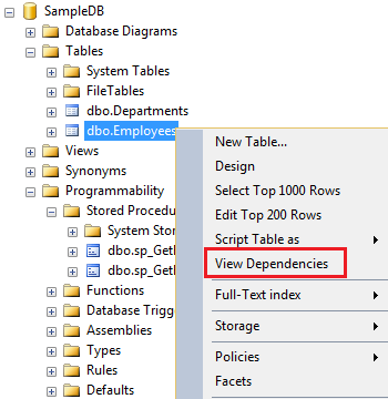 Identifying object dependencies in SQL Server