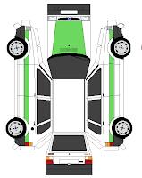 diseño de carrito de papel Fiat Uno