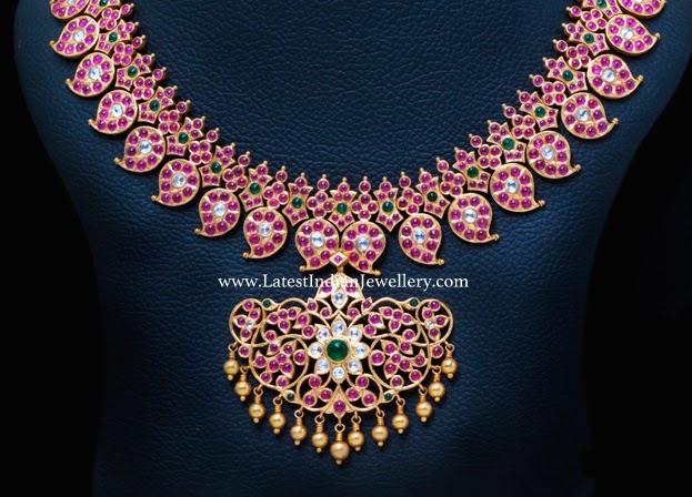 Heavy Rubies Mango Necklace