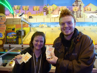 Emily and Seth cleaned up at the Arabian Camel Derby on Skegness Pier