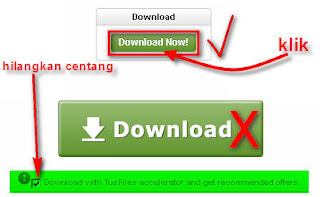 klik download hilangkan centang pada download with tusfiles lihat