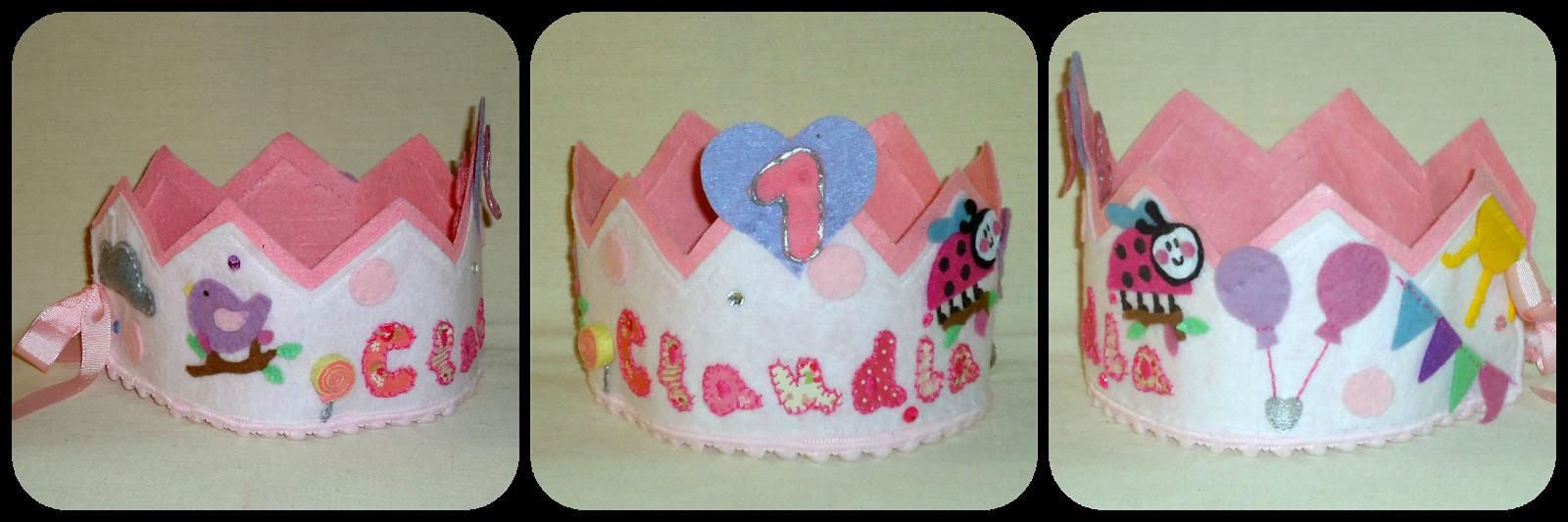 Corona cumpleaños mariquita - Ladybird felt birthday crown