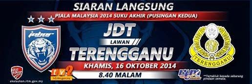 JDT vs Terengganu 16 Oktober 2014