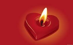 Esta vela es para Elena puesta con el Corazón  para que se recuperé pronto.