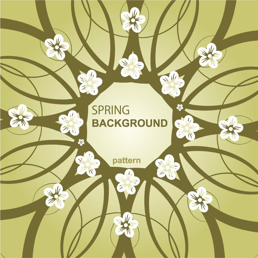 春をイメージした花の背景 elegant pattern background イラスト素材