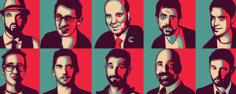 Humoristas españoles al estilo Obey