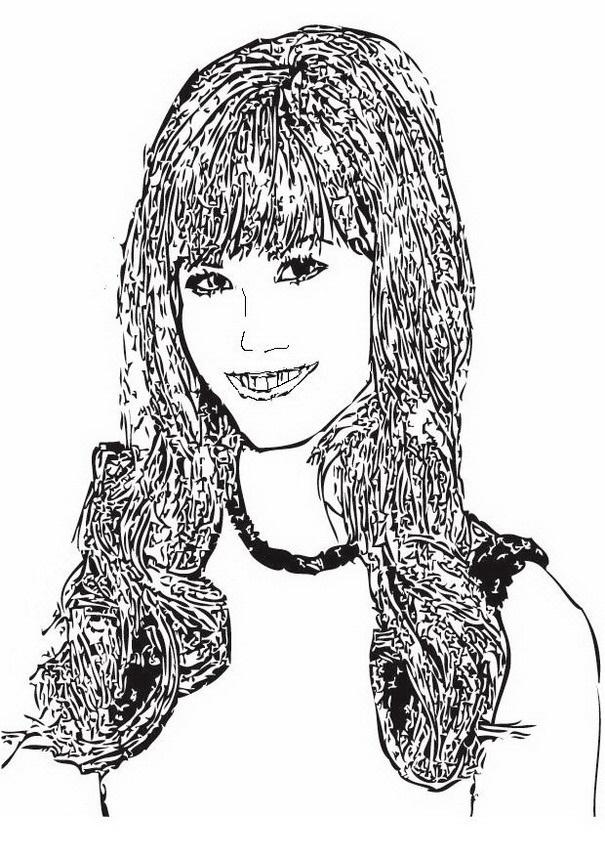 Demi Lovato para colorear - Dibujo Views