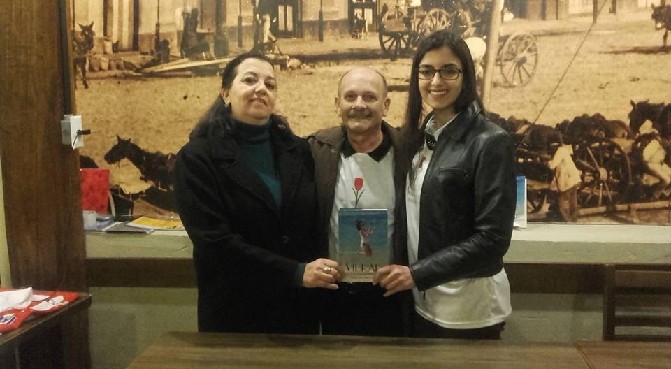 Manoel com Neiva Madeira e Daniela Kirch