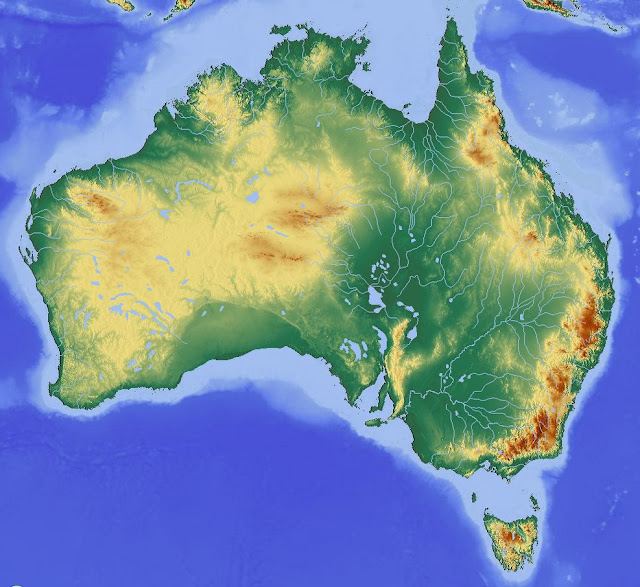 Geography map of Australia