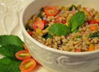 Salada de Cevadinha com Hortelã (vegana)