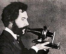 Alexandra Graham Bell's early model of telephone