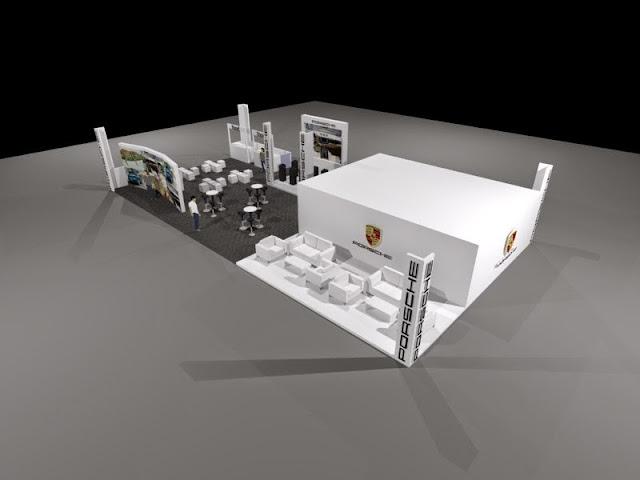 Porsche Booth Design Model 3D