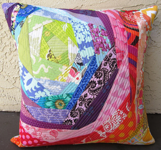 Bloomin' Rainbow Pillow