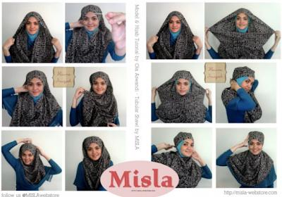 Cara Memakai Jilbab Modis Menutupi Dada 2