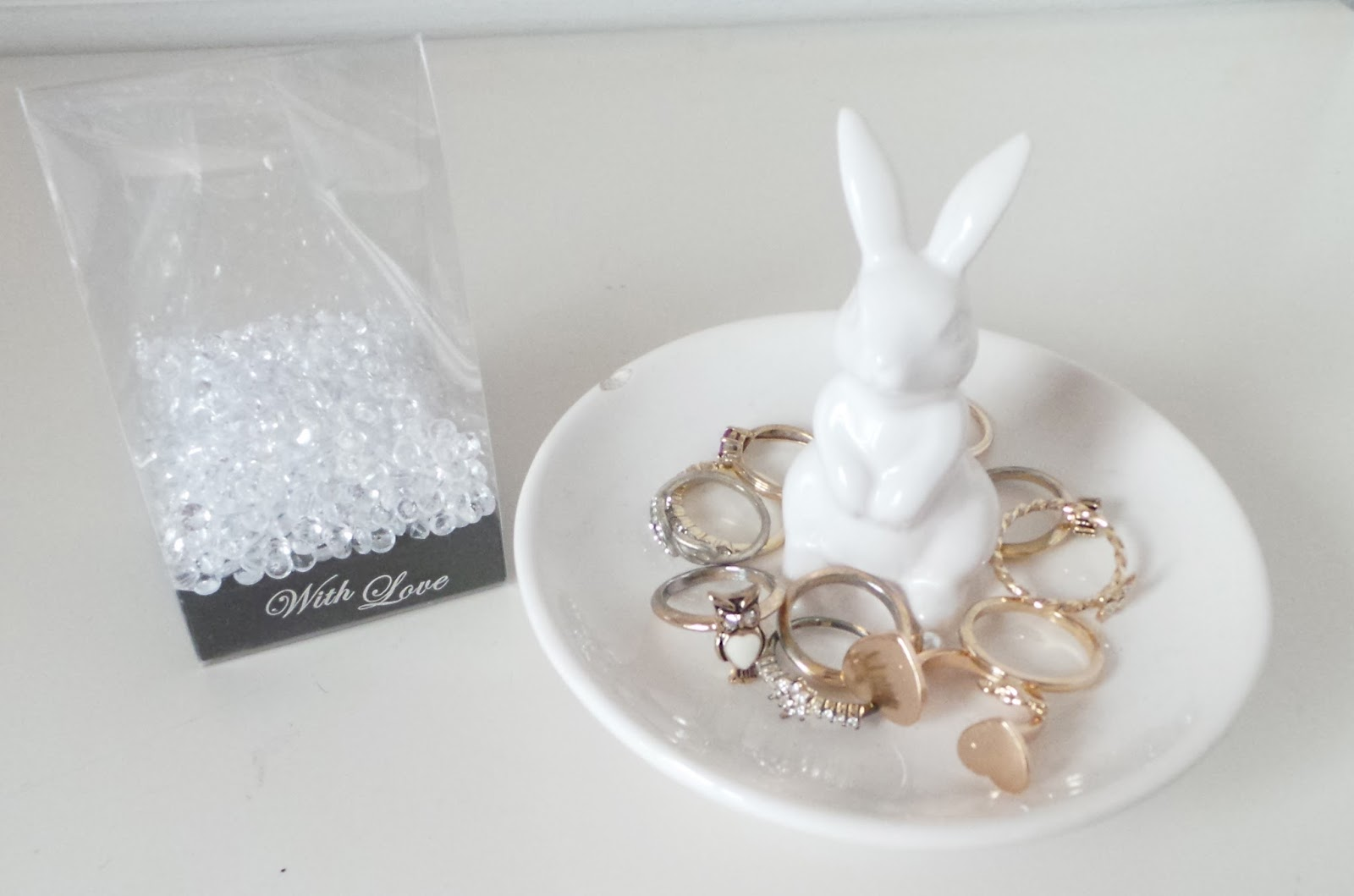 Laura's All Made Up - Home Haul - The Range Diamond Scatters, Vintage Bunny Ring Holder Dish, Home