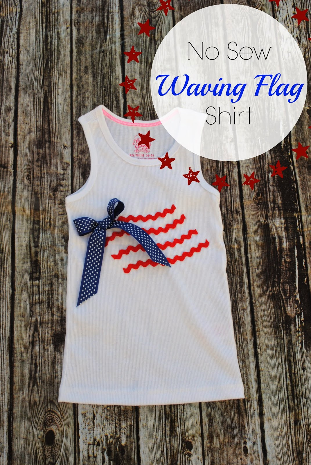 No Sew Waving Flag Shirt