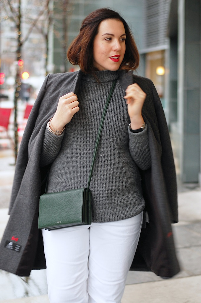 How to wear white pants in winter outfit Vancouver  blogger