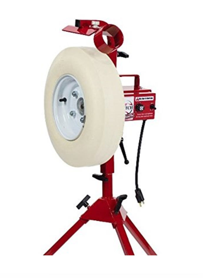 First Pitch Baseline Real Softball & Baseball Pitching Machine