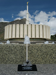The Provo Temple and his name tag