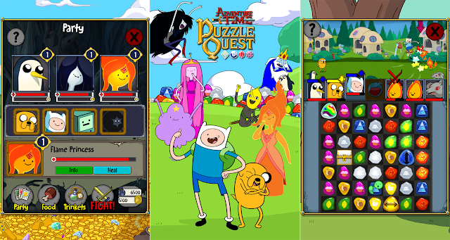 Adventure Time Puzzle Quest v1.3 Apk + Datos SD Mod [Dinero]