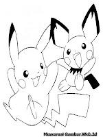 Buku Mewarnai Gambar Pikachu Gratis