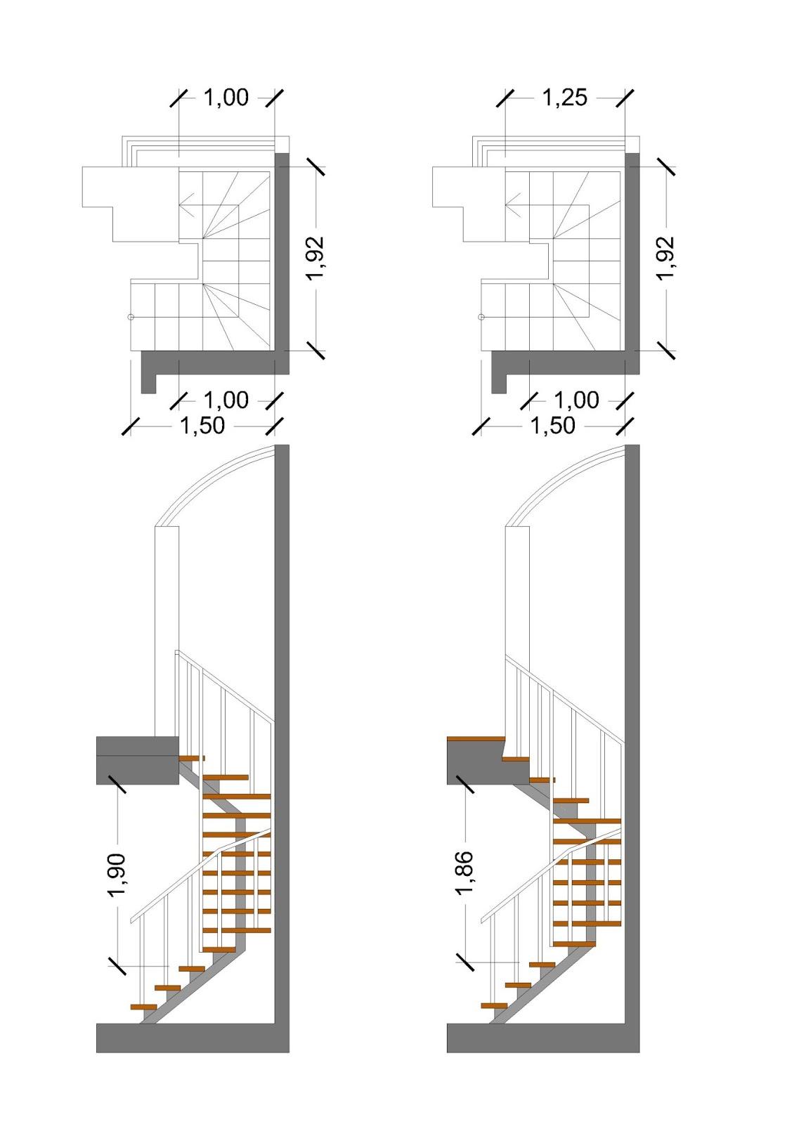 Nuevo Milenio En Alcorc N Tico En Alcorc N Con Muchas Posibilidades ~ Dimensiones Escalera De Caracol