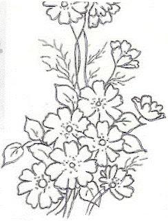 36 riscos para pintura em tecido de flores