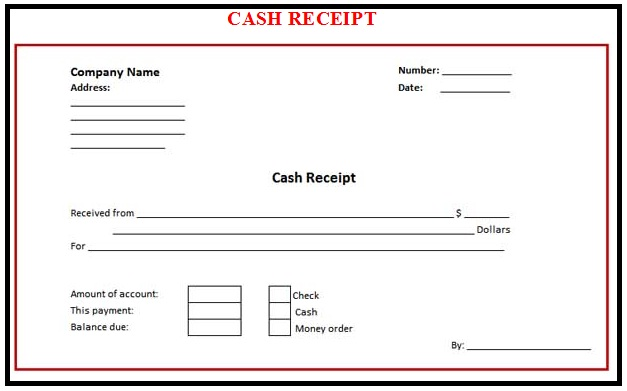 here is the complete format of cash receipt and by using such format ...