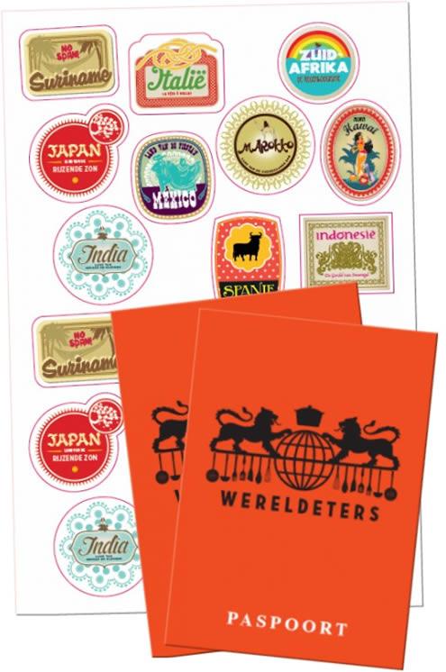 Stickers en paspoort Wereldeters